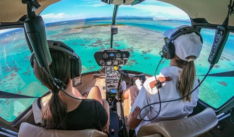 Helicopter ride in Maldives for family